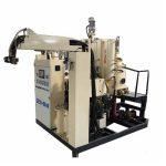 suhu menengah pu busa poliuretan mesin pengecoran elastomer untuk roda koper