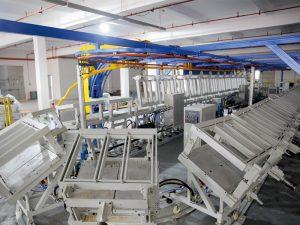 fleksibel busa poliuretan leher istirahat bantal lini produksi cincin mesin