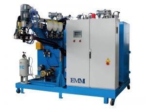 tiga komponen elastomer menuangkan mesin